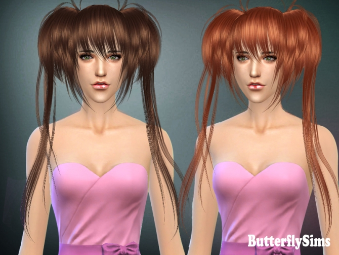 B fly hair 022 (Pay) by Yoyo at Butterfly Sims image 2052 Sims 4 Updates