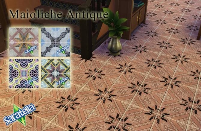 Sims 4 Maioliche Antique tiles at Saratella's Place