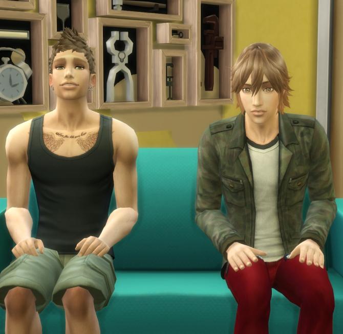 Sims 4 Spiky Layered hair for males at Kijiko