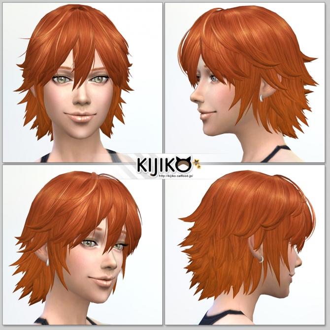 Sims 4 Spiky Layered hair for females at Kijiko