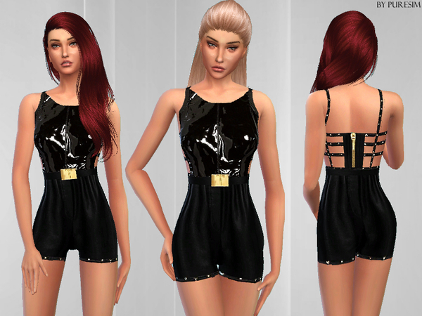 Sims 4 Chic Leather Outfit by Puresim at TSR