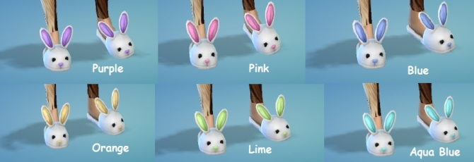 6 Very Cute Bunny Slippers Set By Wendy35pearly At Mod The