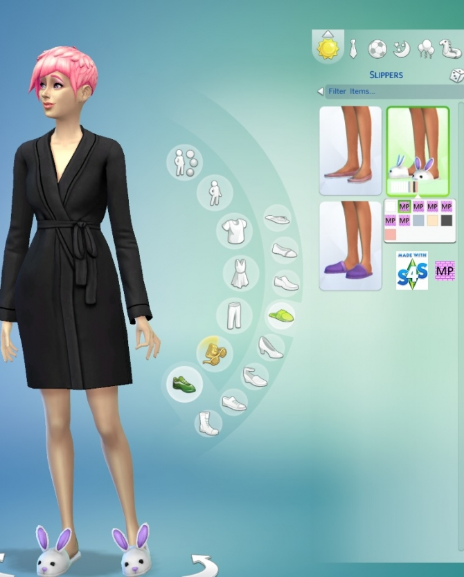 Sims 4 6 Very Cute Bunny Slippers Set by wendy35pearly at Mod The Sims
