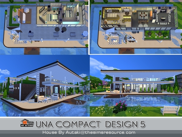 Una Compact Design5 house by autaki at TSR image 2118 Sims 4 Updates