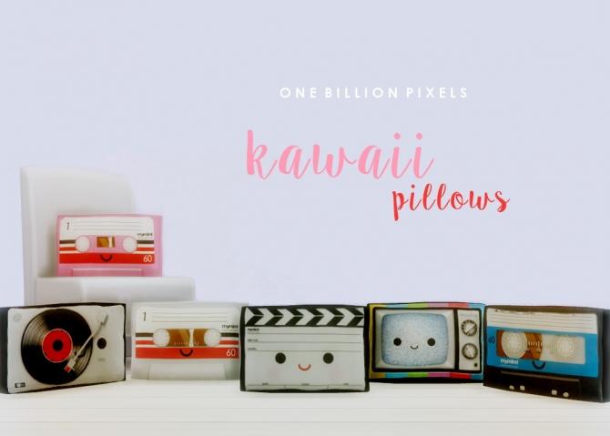 Sims 4 Kawaii Pillows by NewOne at One Billion Pixels