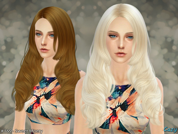 Sims 4 Sweet Misery hair by Cazy at TSR