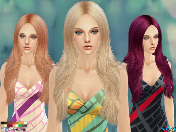 Denial Female Hair by Cazy at TSR image 2141 Sims 4 Updates