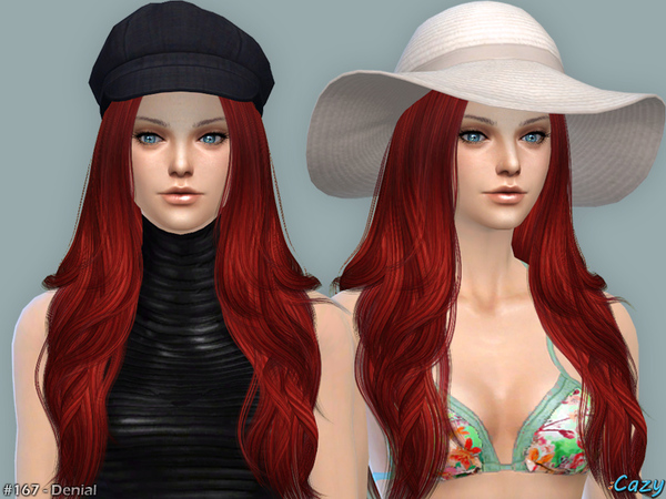 Denial Female Hair by Cazy at TSR image 2161 Sims 4 Updates
