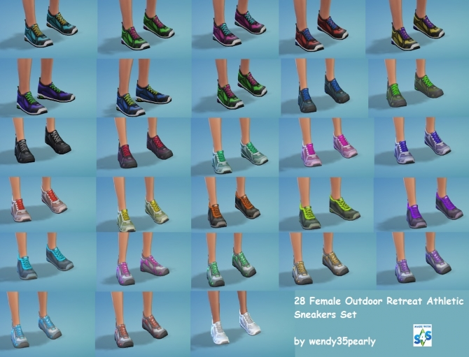 28 AF O.R. Sneakers by wendy35pearly at Mod The Sims image 2163 Sims 4 Updates