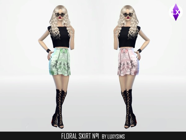 Floral Skirt Nr.1 by Luxy Sims3 at TSR image 2166 Sims 4 Updates