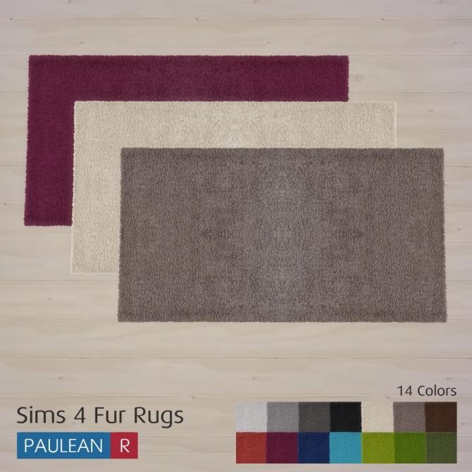 Sims 4 Fur Rugs at Paulean R