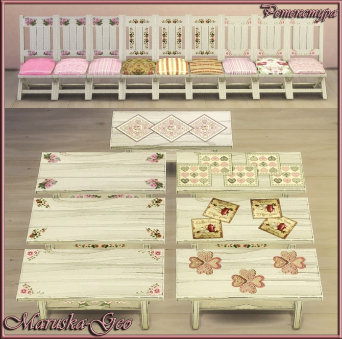 Sims 4 Shabby chic kitchen at Maruska Geo