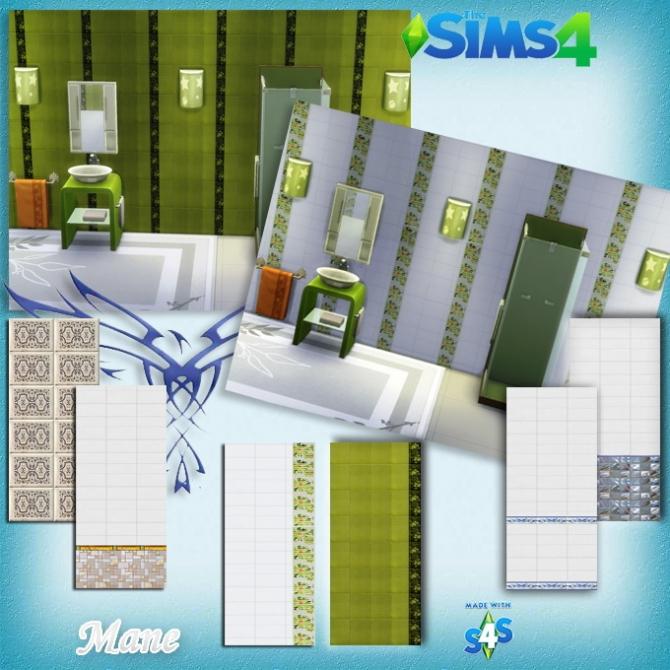 Sims 4 Walls Tiles Set by Mane