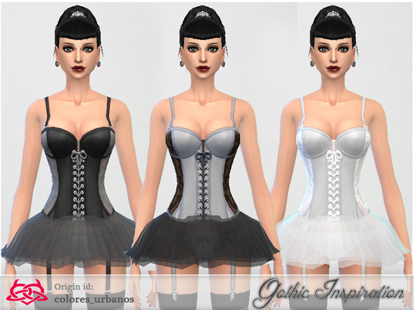 CORSET TUTU by Colores Urbanos at TSR image 2221 Sims 4 Updates