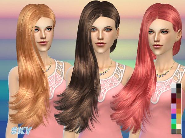 Sims 4 Hair 259 by Skysims at TSR