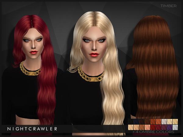 Sims 4 Timber hair by Nightcrawler at TSR