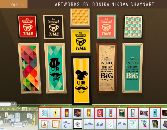 Modern Prints by Donika Nikova at Mod The Sims image 2228 Sims 4 Updates