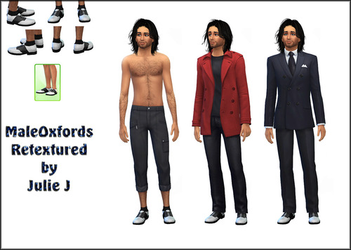 Male Oxford Shoes Retextured at Julie J image 224 Sims 4 Updates