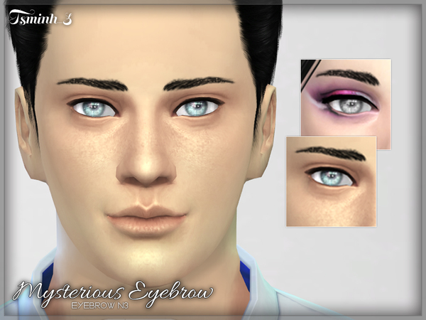 Sims 4 Mysterious Eyebrow by tsminh 3 at TSR