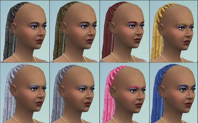 Sims 4 Stevie Wonder braided hair by necrodog at Mod The Sims