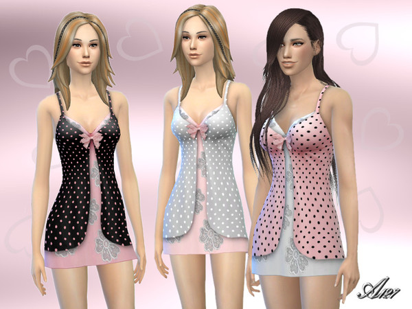 Sims 4 Valentine Camisole by Altea127 at TSR