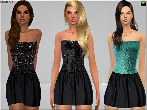 S4 Lets Party Dresses by Margeh 75 at Sims Addictions image 2361 Sims 4 Updates