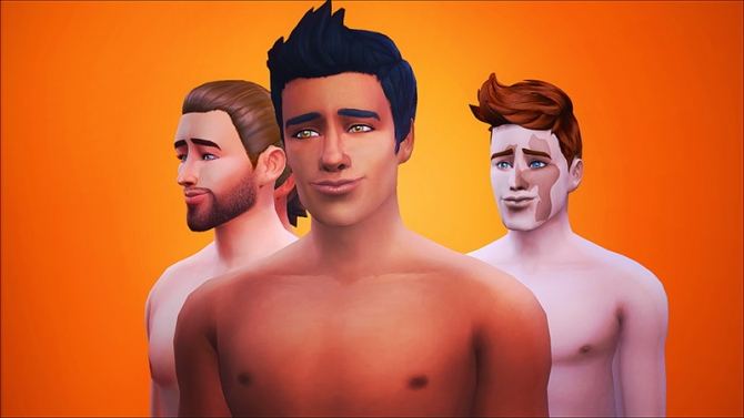 Skin Set For Males At Let Them Eat Burnt Waffles 187 Sims 4
