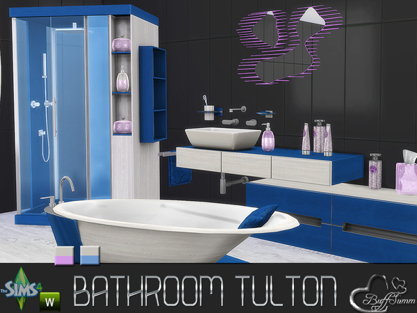 Tulton Bathroom Recolor Set 2 by BuffSumm at TSR image 2433 Sims 4 Updates