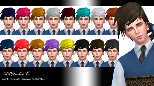 Sims 4 Animate hair for males at Studio K Creation