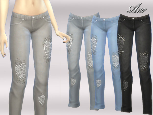Sims 4 Heart jeans by altea127 at TSR