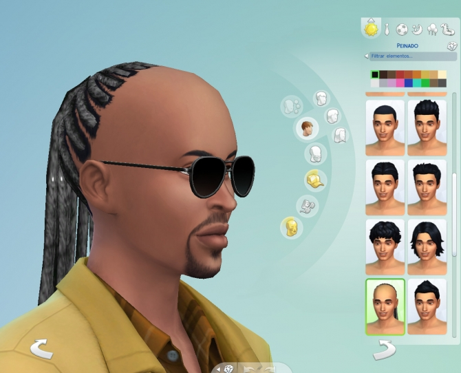 Stevie Wonder braided hair by necrodog at Mod The Sims image 2626 Sims 4 Updates