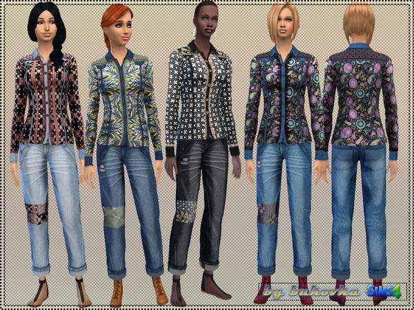 Sims 4 Set Boho Style by bukovka at TSR