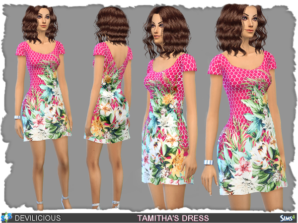 Sims 4 Tamithas Dress by Devilicious at TSR