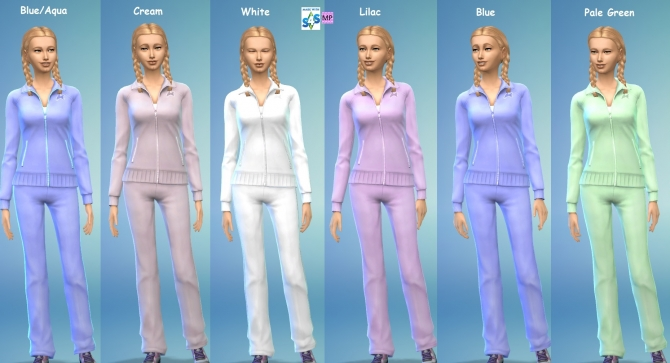 8 Female Fullbody Tracksuit Set by wendy35pearly at Mod The Sims image 2820 Sims 4 Updates
