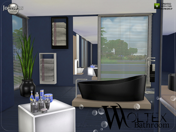 Sims 4 Woltex bathroom by jomsims at TSR