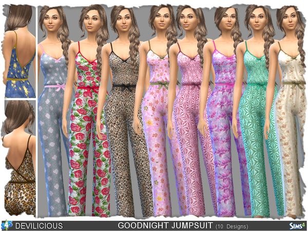 Sims 4 Goodnight Jumpsuit by Devilicious at TSR