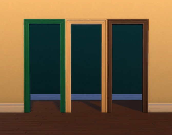 Sims 4 Single Tile Wooden Arch by plasticbox at Mod The Sims