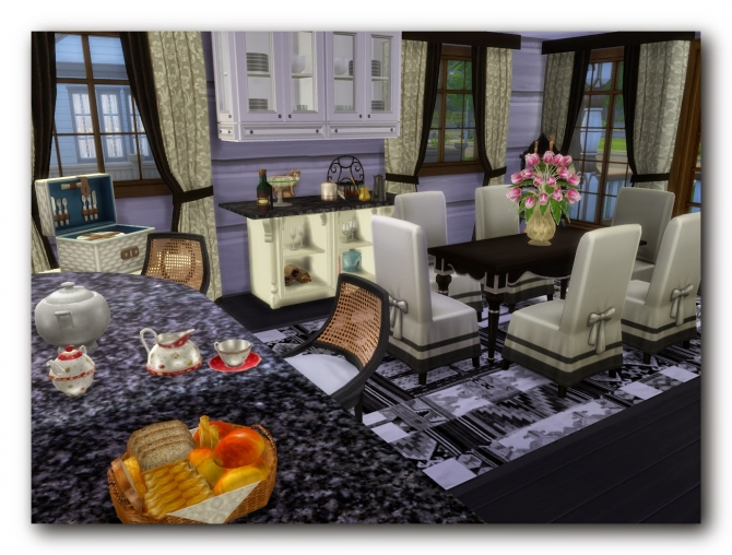 Sims 4 Russian modern house at Architectural tricks from Dalila