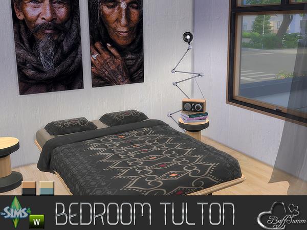 Sims 4 Tulton Bedroom by BuffSumm at TSR