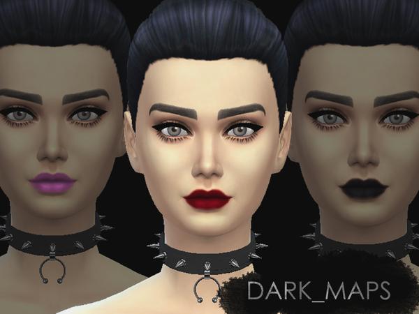 Sims 4 Dark Angels Basic Matt Lipsticks by Dark Maps at TSR