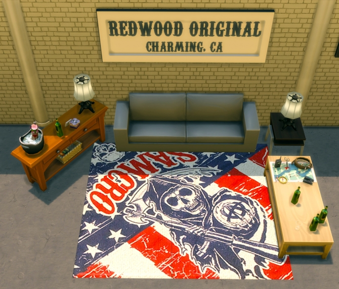 Sons of Anarchy Rugs Pack by Mr. Mayhem at Mod The Sims image 3221 Sims 4 Updates