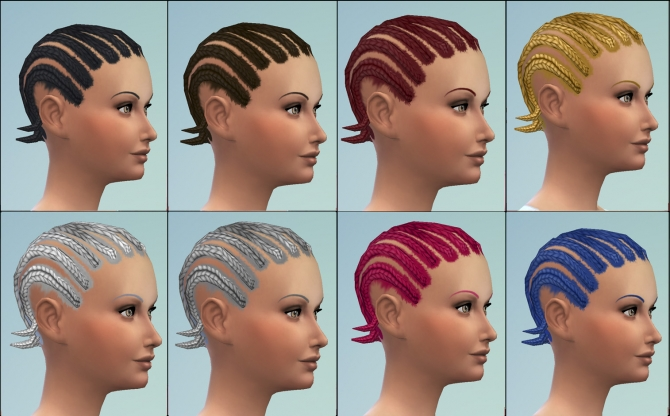 Short cornrows by necrodog at Mod The Sims image 323 Sims 4 Updates