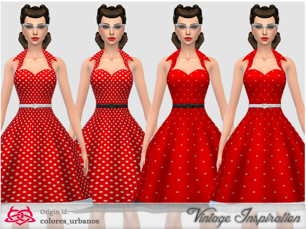 Recolor Rockabilly Dress4 lunares 2 by Colores Urbanos at TSR. Recolor Rockabilly Dress4 lunares 2 by Colores Urbanos at TSR