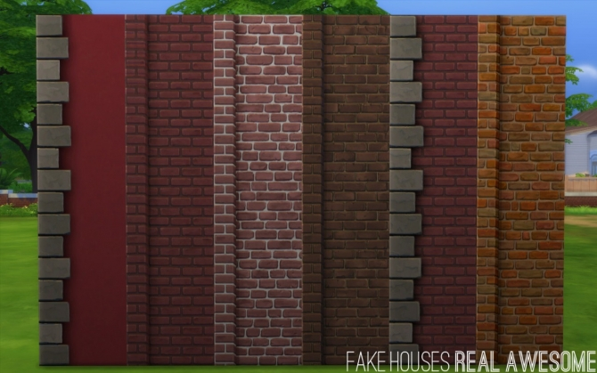 Maxis Paint + Brick Add on Left Edge at Fake Houses Real Awesome image 331 Sims 4 Updates