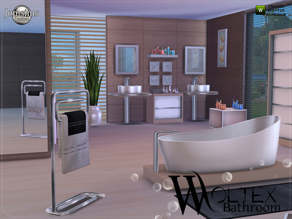 Woltex bathroom by jomsims at tsr sims 4 updates for Bathroom design simulator