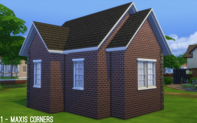 Maxis Paint + Brick Add on Left Edge at Fake Houses Real Awesome image 341 Sims 4 Updates