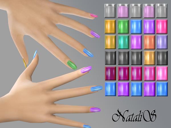 Sims 4 Multicolor nails by NataliS at TSR