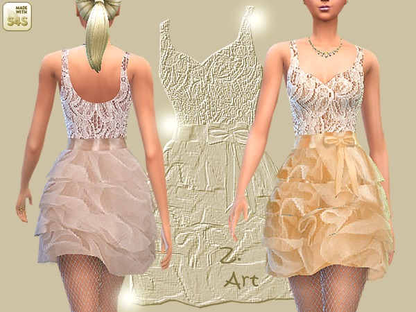 Sims 4 Toffee dress by Zuckerschnute20 at TSR