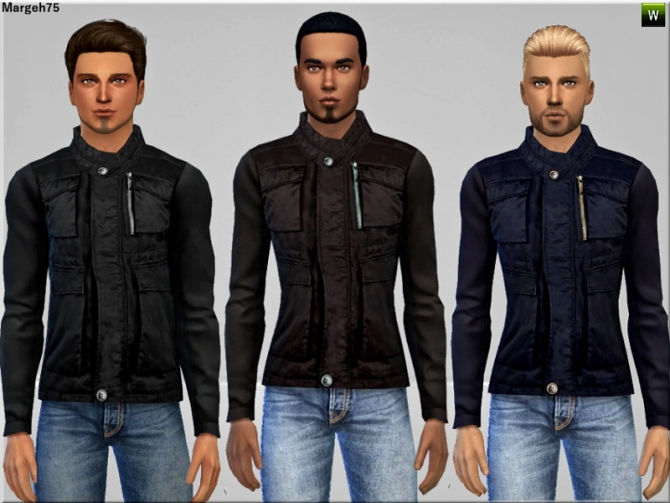 Sims 4 BlackHawk Jacket by Margie at Sims Addictions