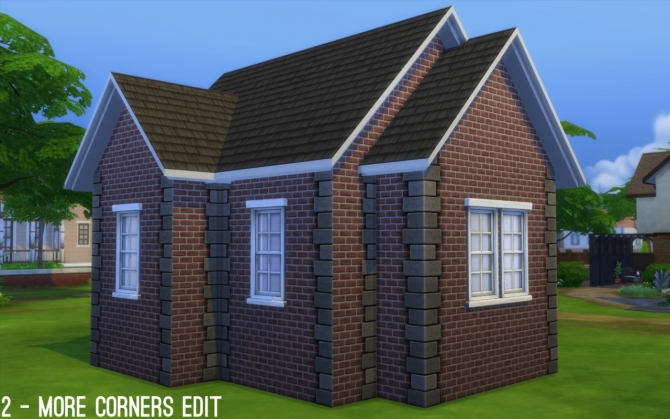 Maxis Paint + Brick Add on Left Edge at Fake Houses Real Awesome image 351 Sims 4 Updates